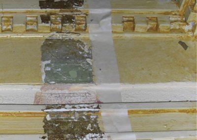 Removing layers of paint reveals the original paint scheme