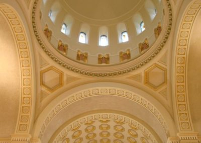 Restored interior of The Church of The Sisters of St. Benedict in Ferdinand, IN - Photo: Bill Sheets