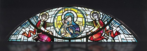 New Stained Glass Byzantine-style clerestory stained glass window design