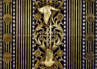 A detail of gilding at the Waldorf-Astoria Hotel