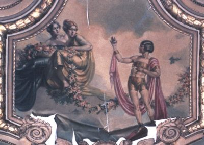 One of many murals badly in need of conservation