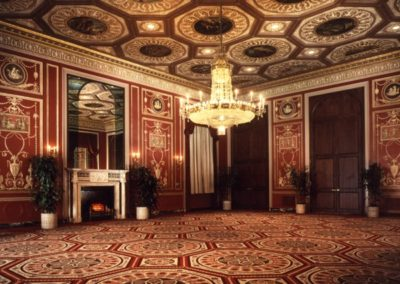 The restored Lobby at the Waldorf-Astoria Hotel