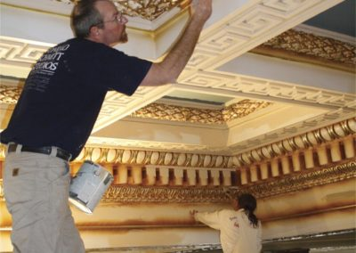 CSS artisans transform the ceiling as part of the restoration