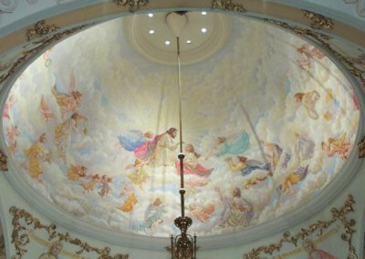 Dome mural by the late Father Richard Fale for St. Agnes Church, St. Paul, MN