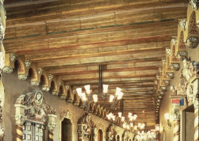 Restored lobby for the Orpheum Theatre in Phoenix, AZ
