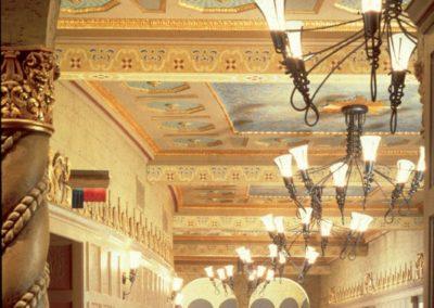 Restored lobby for the Orpheum Theatre in Phoenix, AZ