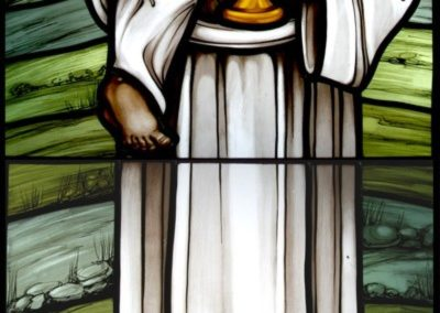 New Saint Herman Joseph stained glass window