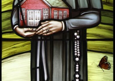 New Saint Elizabeth Seton stained glass window