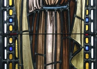 New stained glass for St. Barbara Roman Catholic Church, Dearborn, Michigan