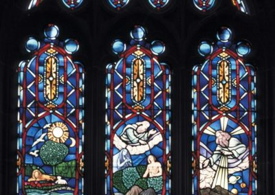 New window with medallions for All Faiths Chapel at Father Flanagan's Boy's Home