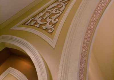 Decorative trompe l'oeil for St. Bartholomew Catholic Church, Stevens Point, WI