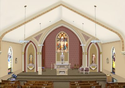 Artist's rendering of the proposed decorative scheme