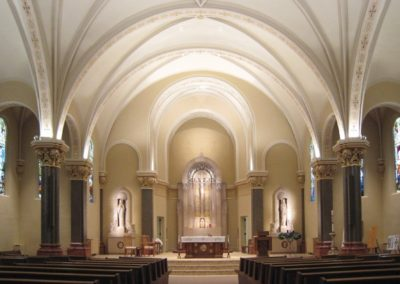 Completed restoration for the Church of the Resurrection, Wausau, WI