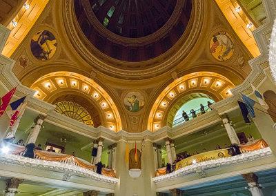 dome lights off South Dakota Capitol renovation by conrad schmit