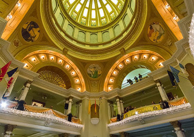dome lights on South Dakota Capitol renovation by conrad schmitt