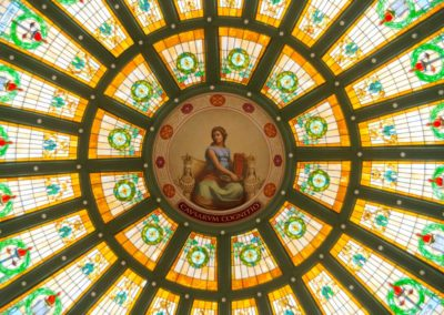 Normal Hall Dome Stained Glass