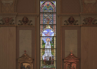 Our Lady of Fatima Window at St. Stanislaus