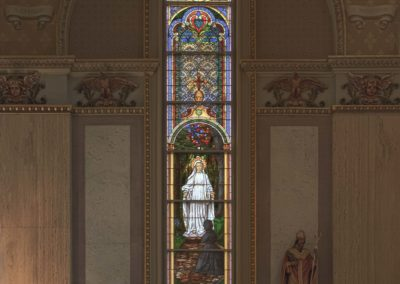 Our Lady of Good Help Window at St. Stanislaus