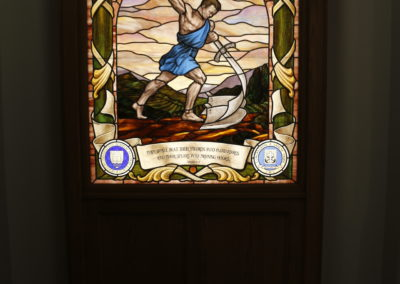 UND Nanovic Hall Stained Glass Window