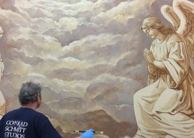 Muralist painting
